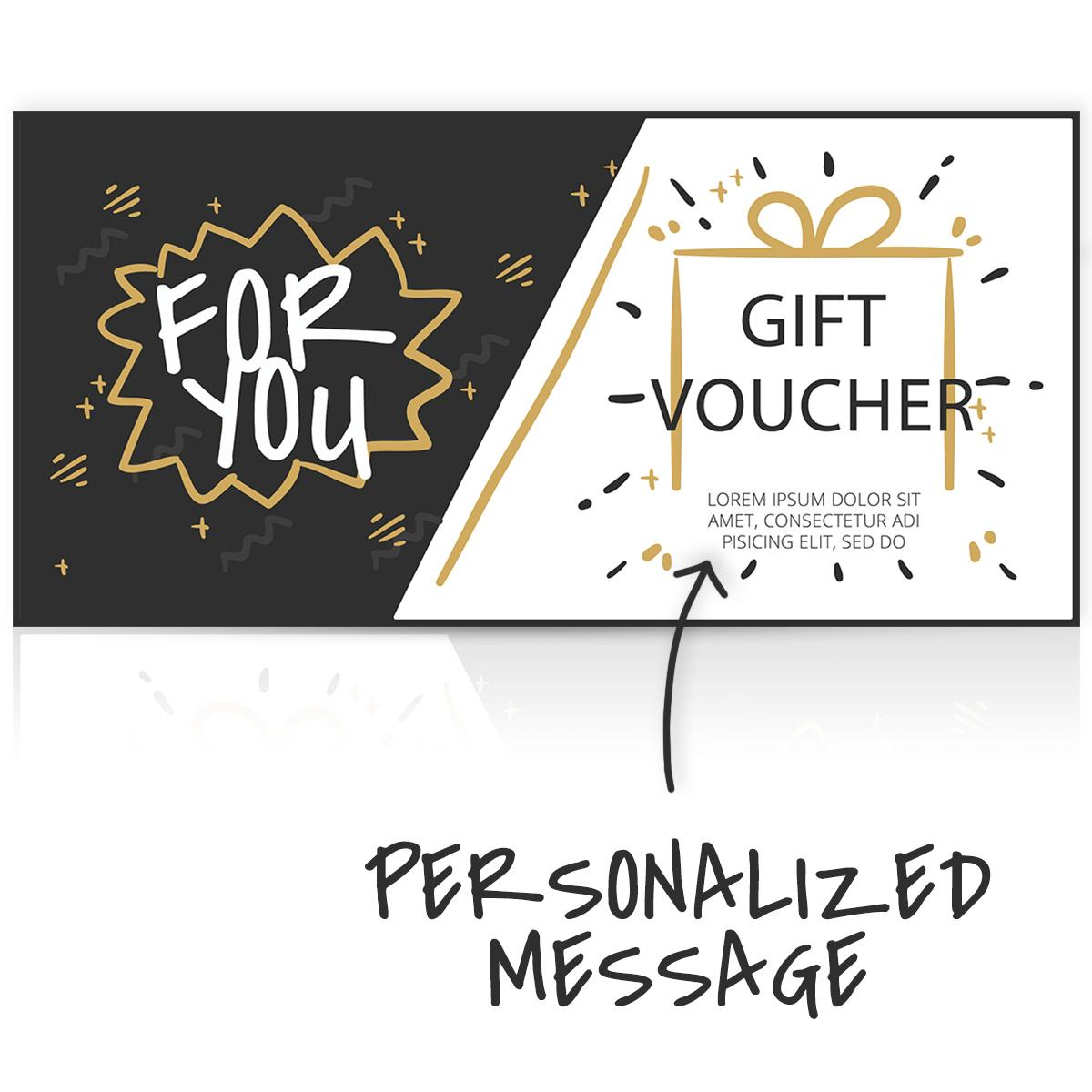 Gift Voucher with personal msg