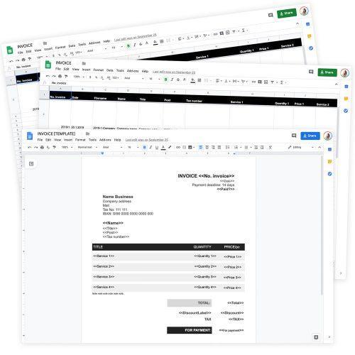 Google template: Invoice