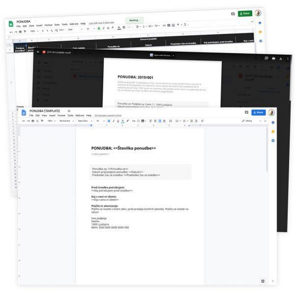 Google predloga: ponudba